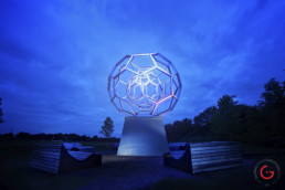 Leo Villareal's Buckyball Public Art Night Photography at Crystal Bridges Museum of American Art