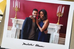 Charles Harbision with Michelle Obama at The White House