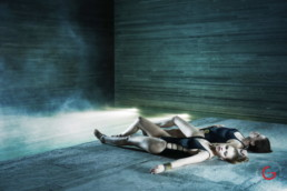 Spa Photography of Ladies Enjoying The Warm Stone - Pritzker Prize Award Winning Architecture Peter Zumthor Therme Vals