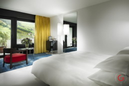 Minimalist Room at 7132 Hotel, Vals, Switzerland - Hotel Room Photographer