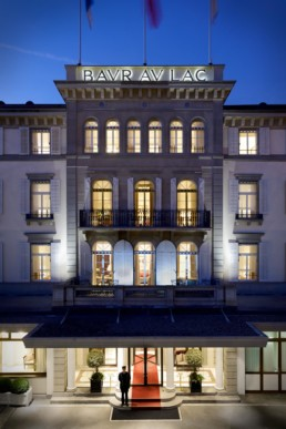 Luxury Hotel Baur au Lac Facade By Jeremy Mason McGraw
