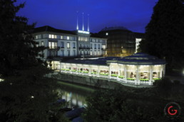 Restaurant Photographer of Michelin Star Restaurant Pavillon Exterior - Hotel Baur au Lac, Zurich