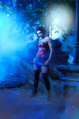 Vampire in Red Corset - Eternal Beauties