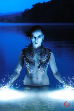 Water Goddess In Lake - Eternal Beauties - Makeup By LuAndra Whitehust, Concept and Photography By Jeremy Mason McGraw