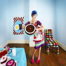 Yarnography - Colorful Characters in Crochet Art by Gina Gallina - Photography Concepts by Jeremy Mason McGraw