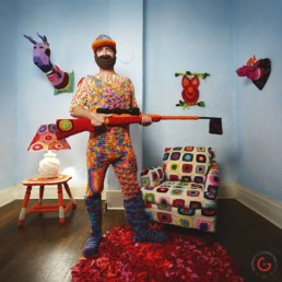 Yarn Hunter - Yarnography - Colorful Characters in Crochet Art by Gina Gallina - Photography Concepts by Jeremy Mason McGraw