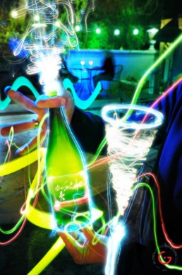 Champagne Celebration, Light Painting Photography from Public Art Project Electric Vision - Eureka Springs, Arkansas