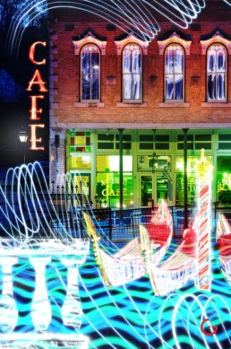 Venice Sights, Light Painting Photography from Public Art Project Electric Vision - Eureka Springs, Arkansas