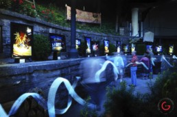 Light Painting Photography from Public Art Project Electric Vision - Eureka Springs, Arkansas