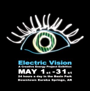 Electric Vision Light Painting Exhibition Poster