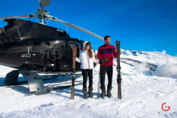Private Helicopter Skiing in Swiss Alps at Luxury Hotel 7132