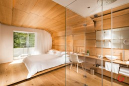 Hotel Photographers, Luxury Hotel Photography, Resort Photographer of Kengo Kuma Room - 7132 Hotel Vals, Switzerland