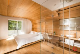Hotel Photography of Kengo Kuma Room - 7132 Hotel Vals, Switzerland
