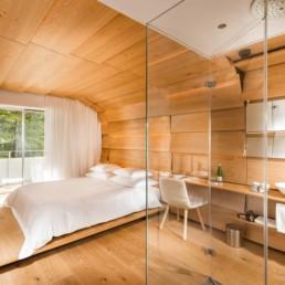 Hotel Photographers, Luxury Hotel Photography, Resort Photographer of Kengo Kuma Room - 7132 Hotel Vals, Switzerland