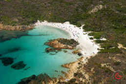 Helicopter Aerial Photography - The Best Beaches are around Sardinia, Italy
