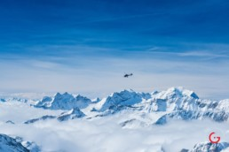 Luxury Private Helicopter Flying Over The Snow Covered Alps 7132 Hotel Vals Switzerland
