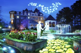 Ghost Wedding at Crescent Hotel, Light Painting Photography from Public Art Project Electric Vision - Eureka Springs, Arkansas