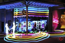 Street Shopping, Light Painting Photography from Public Art Project Electric Vision - Eureka Springs, Arkansas