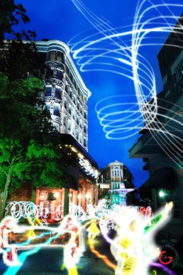 Light Parade, Light Painting Photography from Public Art Project Electric Vision - Eureka Springs, Arkansas