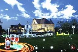Light Painting Photography of the Queen Anne Mansion from Public Art Project Electric Vision - Eureka Springs, Arkansas