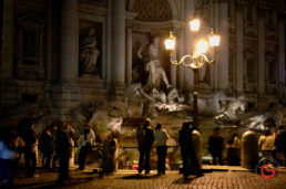 Romance, Trevi Fountain at Night Rome Italy - Travel Photographer