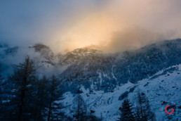 Swiss Mountain Landscape in the Snow - Travel Photographer