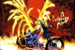 Ghost Rider, Light Painting Photography from Public Art Project Electric Vision - Eureka Springs, Arkansas