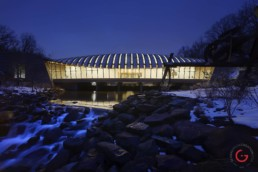 Bentonville Museum Crystal Bridges Night Photography - Architectural Photographer