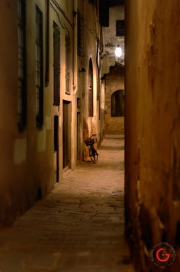 Florence Italy Bike in Alley - Travel Photographer