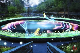 Mermaid, Light Painting Photography from Public Art Project Electric Vision - Eureka Springs, Arkansas