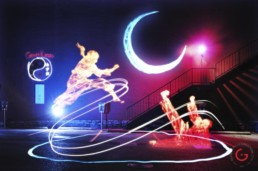 Light Painting Photography, Karate Photos from Public Art Project Electric Vision - Eureka Springs, Arkansas