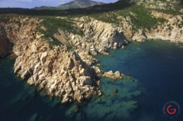 Aerial Photography Costa Smeralda Rocky Coast