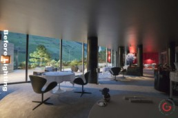 Interior Photographer - Before Lighting - 7132 Silver, 2 Michelin Star Restaurant, Sven Wassmer