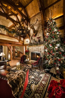 Interior Photographer - After Lighting - Timber Frame Home, Ron Hill