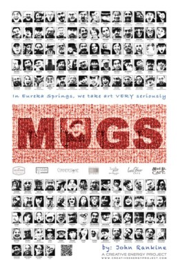 Official MUGS public art project poster in Eureka Springs, Arkansas