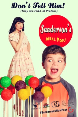Sanderson's Meal Pops Fake News Poster - Don't Tell Him