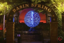 Public Art Project Sphere Glows in Basin Spring Park