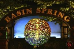 Public Art Project Sphere Glows in Basin Spring Park