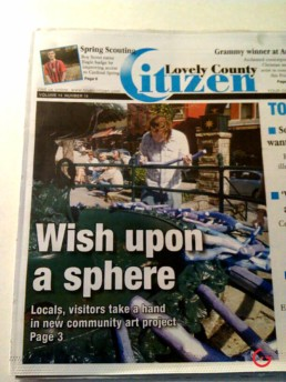 Another Local Newspaper Cover for Sphere