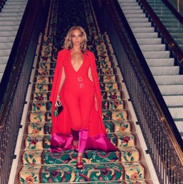 Beyonce dressed by Charles Harbison - Image provided by: http://www.harbisoncollection.com
