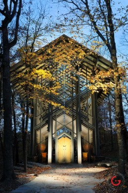 Thorncrown Chapel Evening View - Eureka Springs, Arkansas Photography