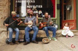 Musicians on Spring Street - Eureka Springs, Arkansas Photography