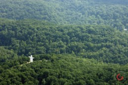 Christ of the Ozarks from the Air - Eureka Springs, Arkansas Photography