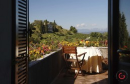 Hotel Photographer of Suite Terrace View of Villa Asolo, Italy