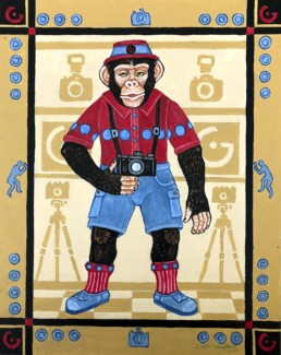 Shenanigans Chimp by Eureka Springs, Arkansas Artist Zeek Taylor