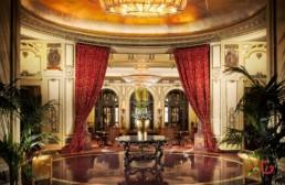 Hotel Interior Photography of Main Lobby at St. Regis, Rome, Italy