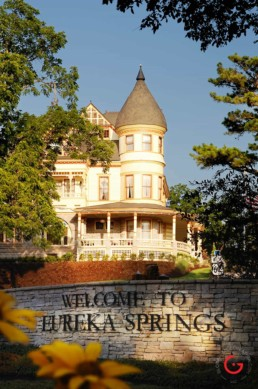 Queen Anne Mansion - Eureka Springs, Arkansas Photography