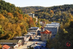 Aerial View of Downtown - Eureka Springs, Arkansas Photography