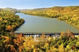 Lake Leatherwood Aerial View - Eureka Springs, Arkansas Photography