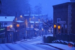 Main Street in the Snow - Eureka Springs, Arkansas Photography